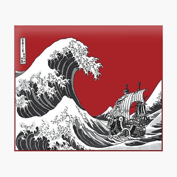 RED The Great Wave  Photographic Print