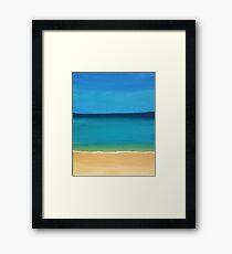 sky, sea and sand Framed Print