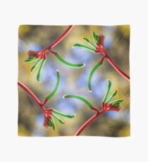 Red and Green Kangaroo Paw Scarf, Kings Park Scarf