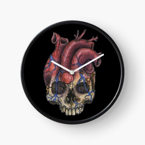 Heart Skull Clock