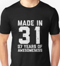 87th Birthday Gift Adult Age 87 Year Old Men Women Unisex T Shirt