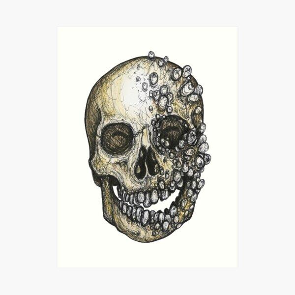 toothy skull Art Print