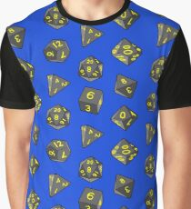 Blue Gaming Dice Graphic T-Shirt