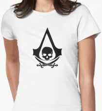 Assassins Creed 2 Black Women's Fitted T-Shirt