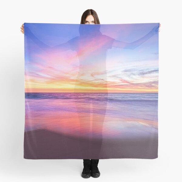 Aussie Sunset Claytons Beach Mindarie - Clothing Scarf