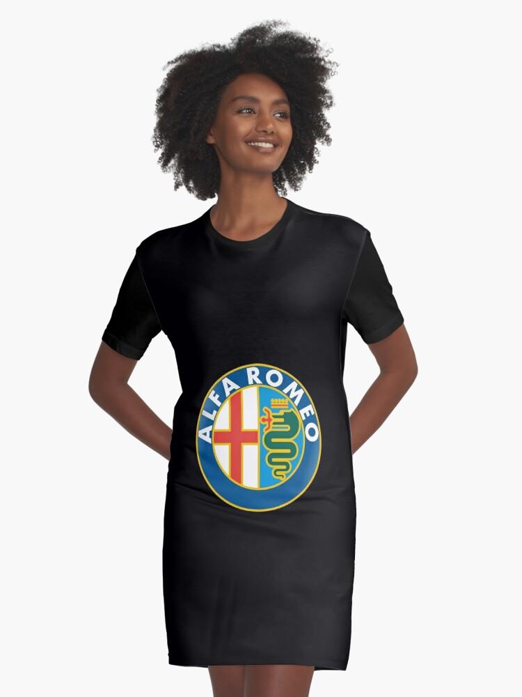 Alfa Romeo Logo Merchandise Graphic TShirt Dress By NicoleHartman - Alfa romeo merchandise