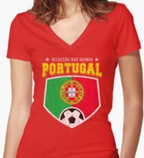 2018 Portugal Football World Soccer Cup Women s Fitted V-Neck T-Shirt d91d559b9