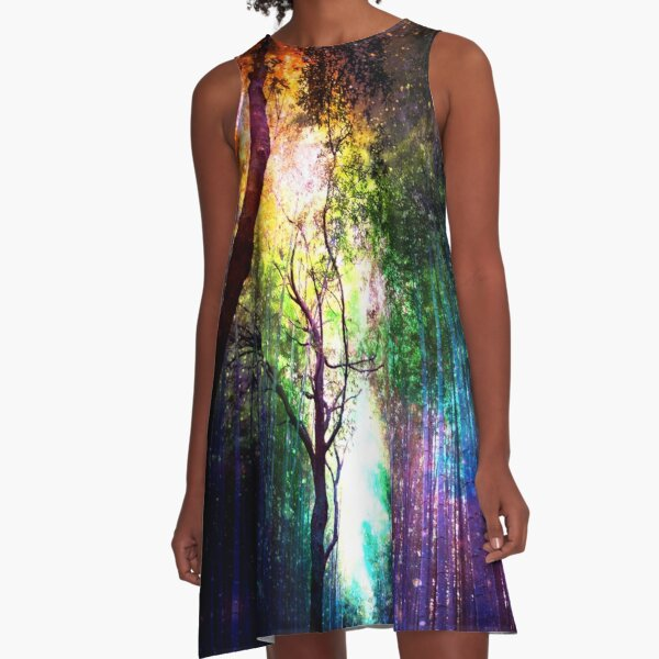 Rainbow forest A-Line Dress