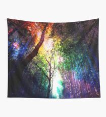 Regenbogenwald Wandbehang
