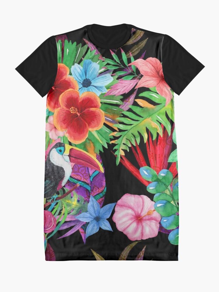 Alternate view of Hawaiian beauty Graphic T-Shirt Dress