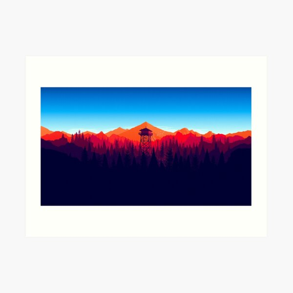 Firewatch - Landscape 4 Art Print