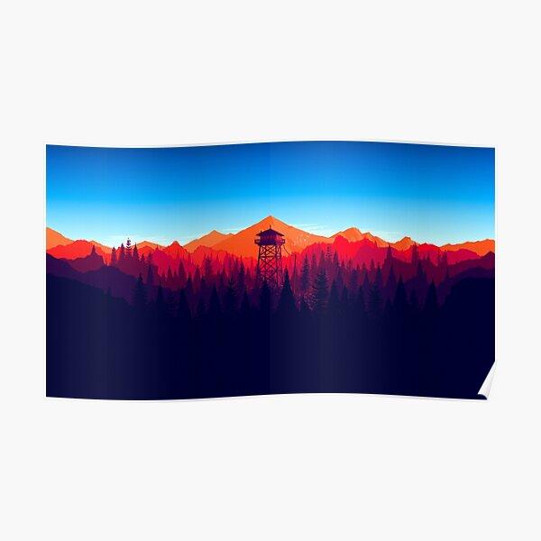 Feuerwache - Landschaft 4 Poster