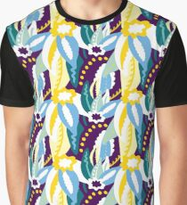 Up In The Clouds - Yellow, Blue, Green and Purple Graphic T-Shirt