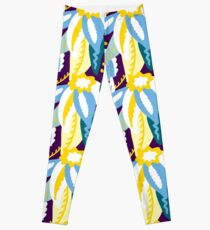 Up In The Clouds - Yellow, Blue, Green and Purple Leggings