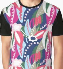 From The Tropics - Pink, Red, Blue and Tan Graphic T-Shirt