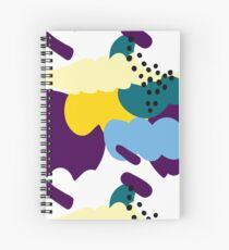 Up In The Clouds - Yellow, Purple and Blue Spiral Notebook