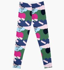 Up In The Clouds - Pink, Blue and Green Leggings