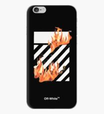 Off-White Diagonals Fire iPhone Case