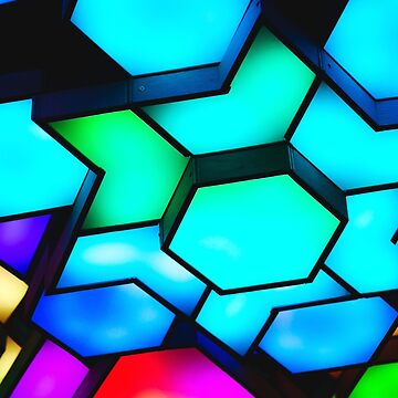 Abstract Raimbow Multicolor Square by FrancisDigital