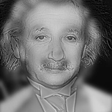 Far Marylin Near Einstein - Optical Illusion  by alphaville