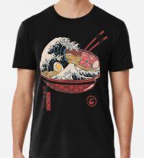 Camiseta premium Gran ramen de onda
