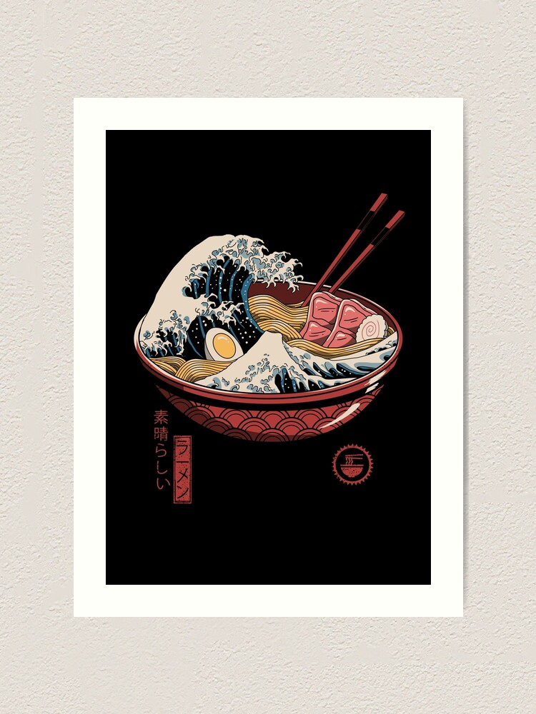 Alternate view of Great Ramen Wave Art Print