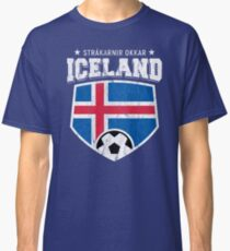 95451871a21 Iceland Football National Flag T Shirt World Soccer Jersey Cup Classic T- Shirt
