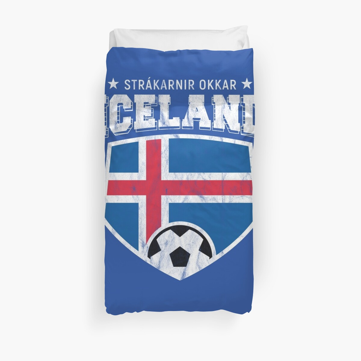0ba04a8a290 Iceland Football National Flag T Shirt World Soccer Jersey Cup Duvet Cover
