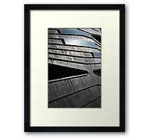Abstract Roof, Contemporary Architecture, De Young Museum Framed Print