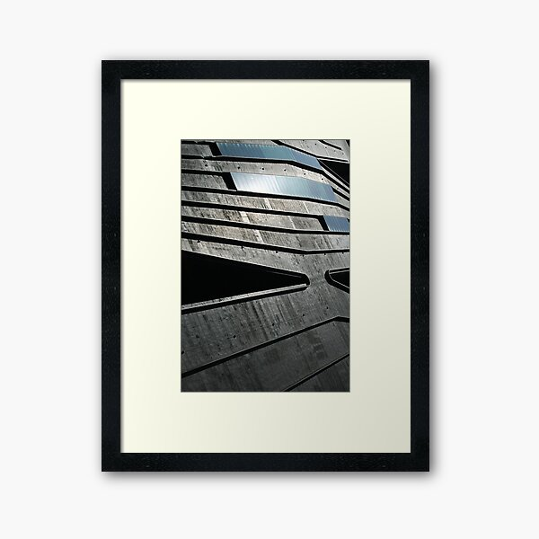 Abstract Roof, Contemporary Architecture, De Young Museum Framed Art Print