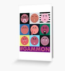 #GAMMON - HASCHTAG GAMMON - WALL OF GAMMON Grußkarte