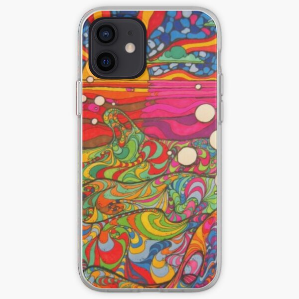 Psychedelic Trippy Hippy Colorful Illustration iPhone Soft Case