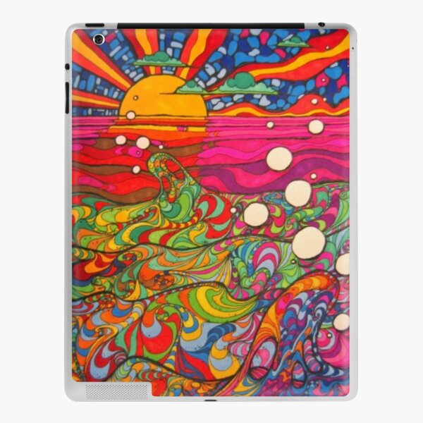 Psychedelic Trippy Hippy Colorful Illustration iPad Skin