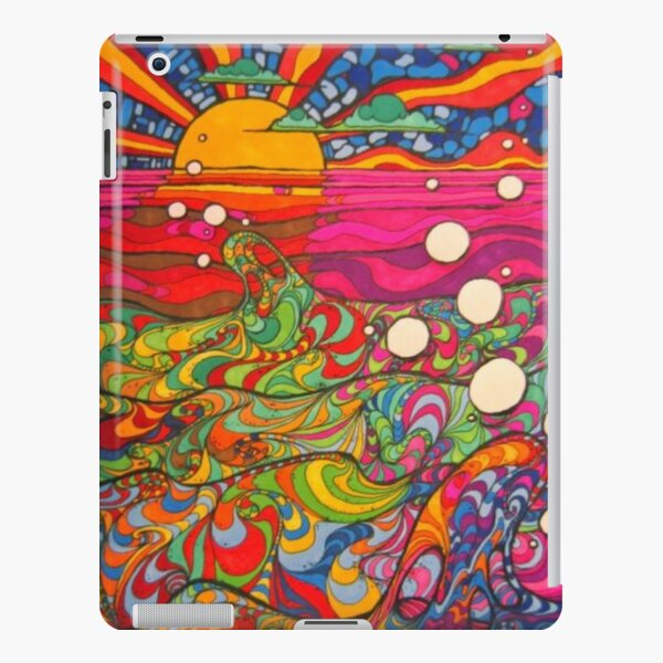 Psychedelic Trippy Hippy Colorful Illustration iPad Snap Case