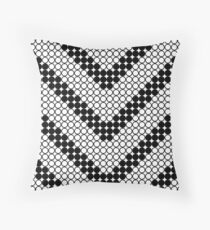 Black and white vee shaped stripes Floor Pillow