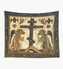 Orthodox Icon Angels Venerating the Cross Wall Tapestry