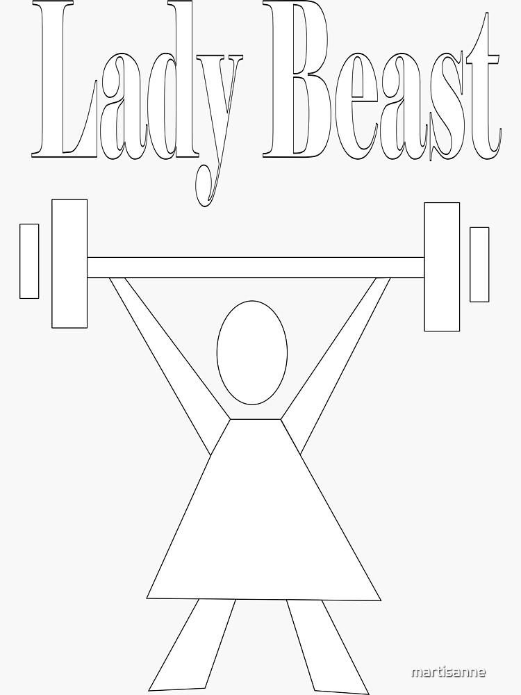 Lady beast, a strong powerful woman that lifts  by martisanne