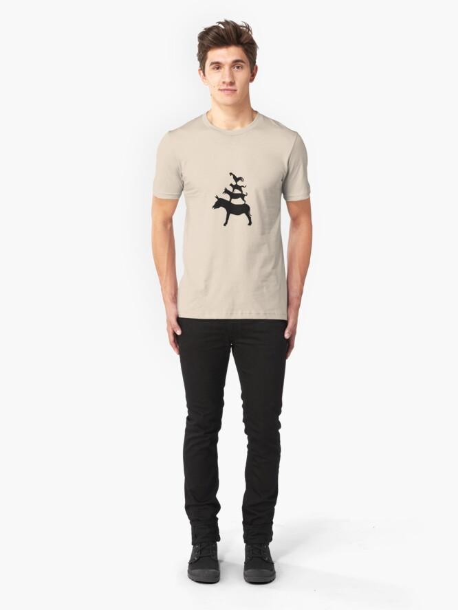 Alternate view of The Town Musicians of Bremen (Die Bremer Stadtmusikanten) - light tees Slim Fit T-Shirt