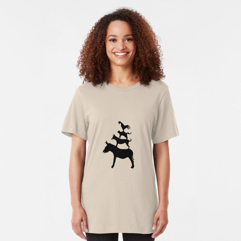 The Town Musicians of Bremen (Die Bremer Stadtmusikanten) - light tees Slim Fit T-Shirt