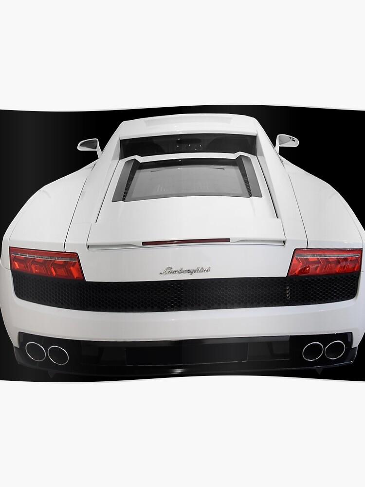 Lamborghini Gallardo Lp560 White Back Poster By Under Thetable