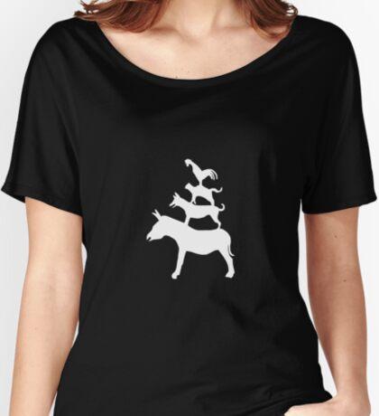 The Town Musicians of Bremen (Die Bremer Stadtmusikanten) - dark tees Women's Relaxed Fit T-Shirt