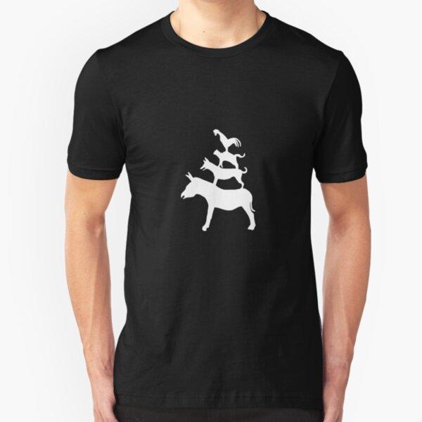 The Town Musicians of Bremen (Die Bremer Stadtmusikanten) - dark tees Slim Fit T-Shirt