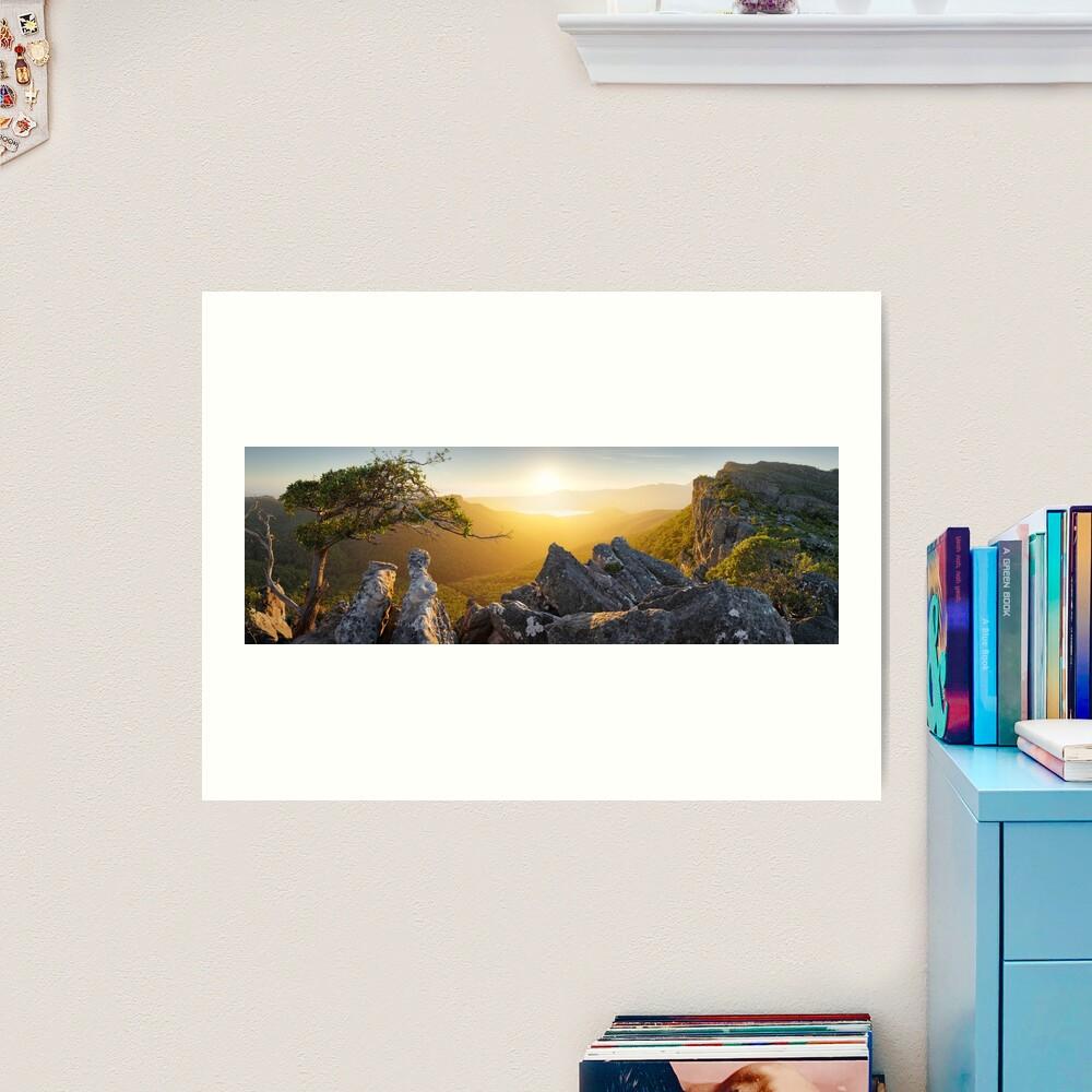 Morning finds Mt Rosea, Grampians, Victoria, Australia Art Print