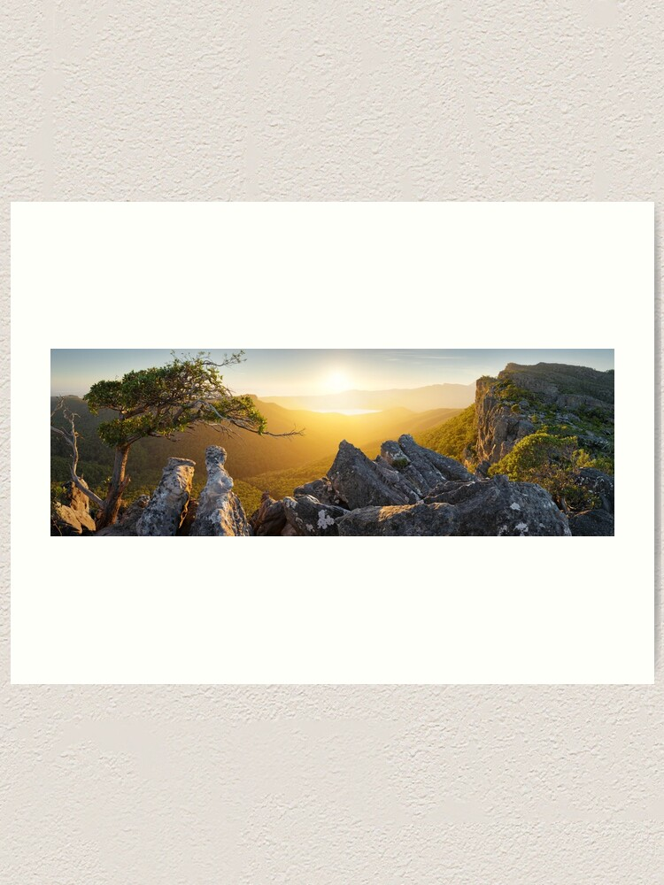Alternate view of Morning finds Mt Rosea, Grampians, Victoria, Australia Art Print