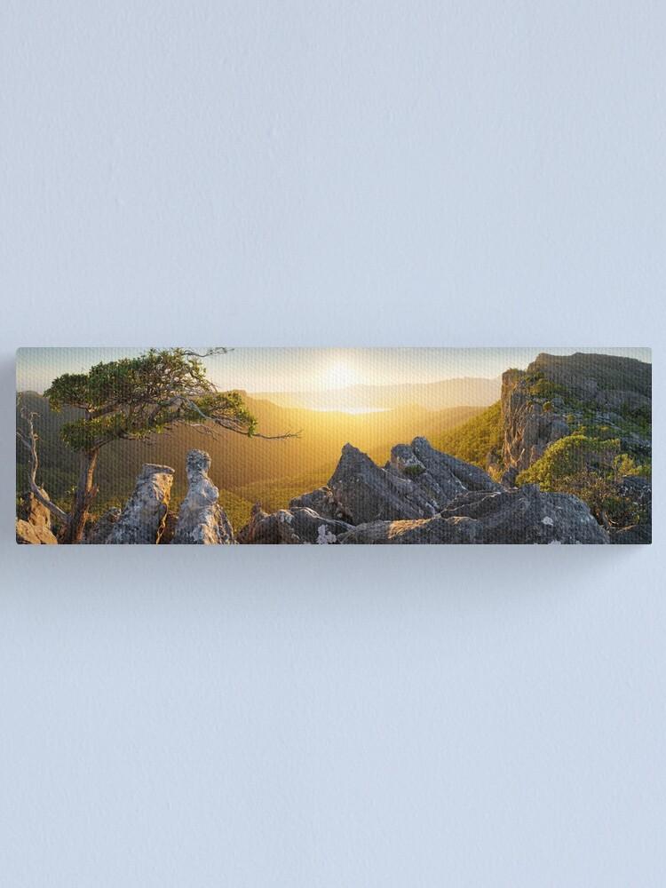 Alternate view of Morning finds Mt Rosea, Grampians, Victoria, Australia Canvas Print