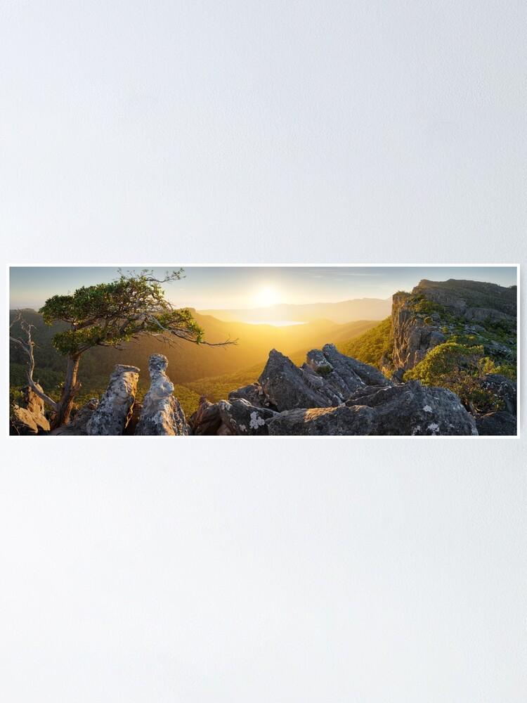 Alternate view of Morning finds Mt Rosea, Grampians, Victoria, Australia Poster