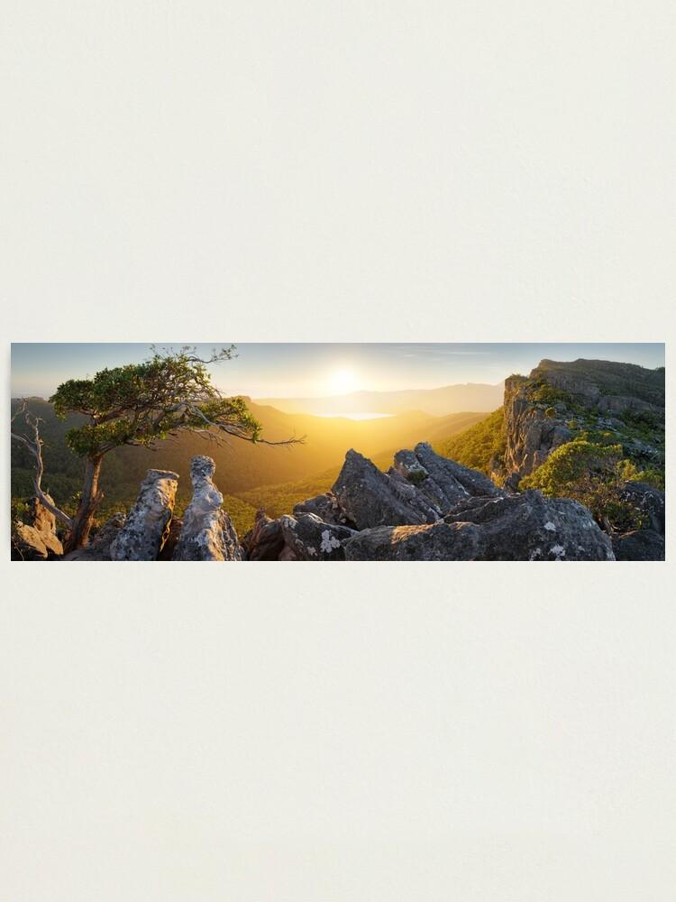 Alternate view of Morning finds Mt Rosea, Grampians, Victoria, Australia Photographic Print