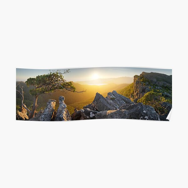 Morning finds Mt Rosea, Grampians, Victoria, Australia Poster