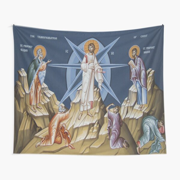 Orthodox Christian Icon the Transfiguration of Christ Tapestry