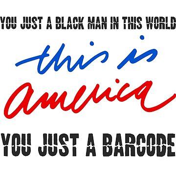 This Is America Flag Barcode by reyboot